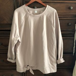 Soft Dusty Pink Sweatshirt with Tie Old Navy XXL